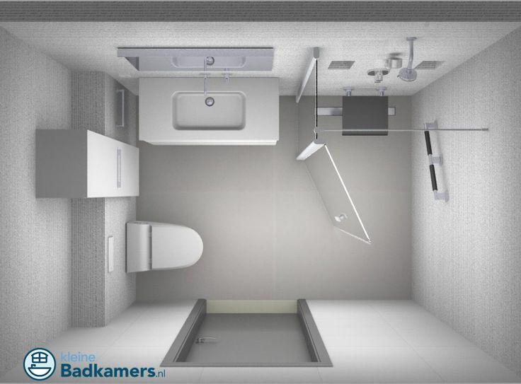 Badkamer met kleine seniorendouche