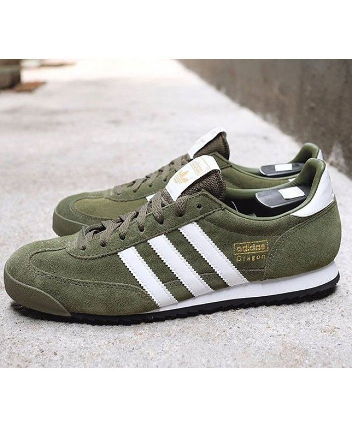 new style e0f1a 2c169 Adidas Dragon Og Green Army White Trainers Sale UK