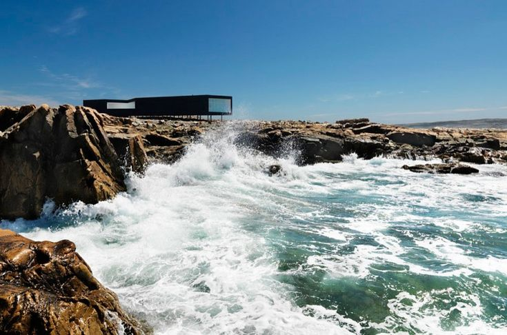 Fogo Island Long Studio by Saunders Architecture. located on Fogo Island, the largest of the offshore islands of Newfoundland and Labrador, Canada.