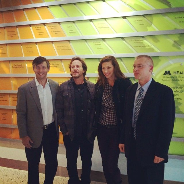 Exciting day! #EddieVedder and EB Research Partnership visited #UMN Masonic Children's Hospital to meet some of our patients and their families. Thank you for helping us change lives for children with #EpidermolysisBullosa! #UMNProud #PearlJam #Minneapolis #Minnesota