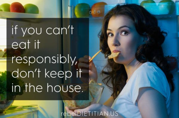 If you can't eat it responsibly, don't keep it in the house.