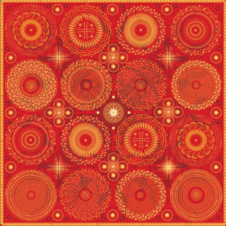 """Progetto tessile di STRATEGIC-DESIGN per foulard in seta con grafica originale,soggetto """"sole mio """""""
