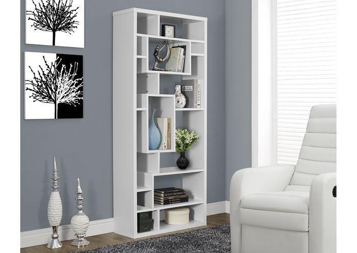 Bibliothèque de couleur blanche / White colored hollow-core.