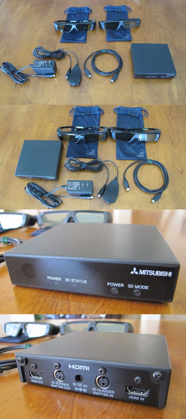 3D TV Glasses and Accessories: Mitsubishi 3D Kit 3Dc-1000, 2 Pair Of Glasses, Plus All Cables Plugs Never Used -> BUY IT NOW ONLY: $99.99 on eBay!