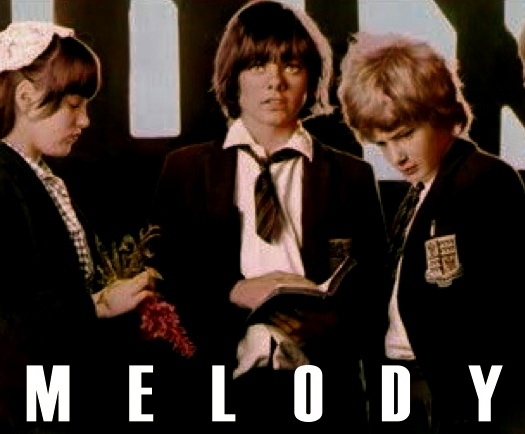 "Tracy Hyde (sweet as apple pie), Jack Wild, Mark Lester in ""Melody"""