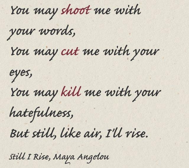 Still I Rise: A Poem for Thursday
