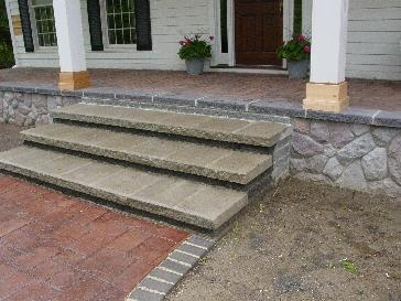 Patio Step Down/ Mix And Match Stones