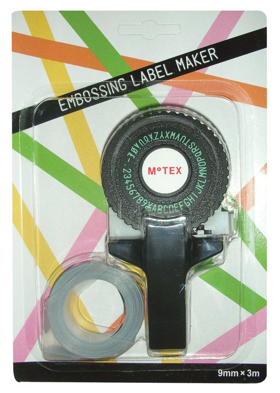 Retro OH MY Motex handheld embossing label maker E101 by OHMYBUY,