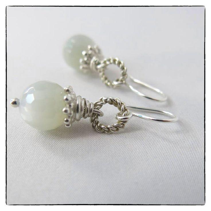 Ohrringe aus Sterling Silber mit Mondstein