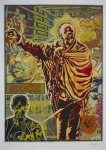 Worldart :: Worldart Prints Khaya Witbooi Title:Remember Marikana 1 Size:71cm x 50cm Medium:Acrylic and spray paint on canvas Edition:1/10 Price:R 8 500
