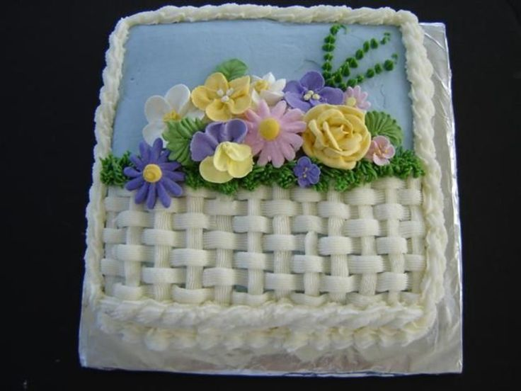 How To Basket Weave Buttercream : Best ideas about basket weave cake on