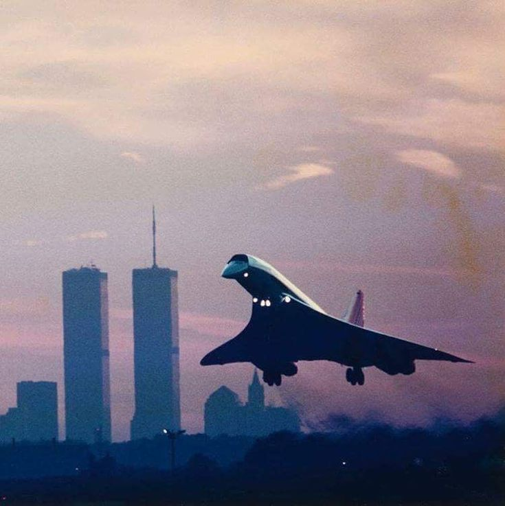Concorde in NYC 1990 : aviation
