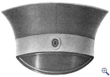 Офицерская фуражка с кокардой, которая утверждена 2 января 1844 года.