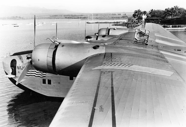 The clipper's wing was so large that crewmembers could service the engines via walkways inside of it.