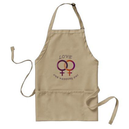 #Celebrating a lesbian wedding apron - #wedding gifts #marriage love couples