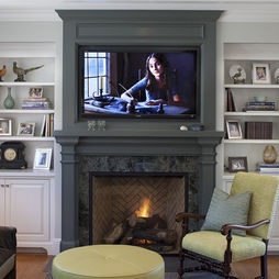 Traditional Family Room Built In Entertainment Center Fireplace Design, Pictures, Remodel, Decor and Ideas