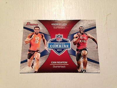 cool ANDREW LUCK CAM NEWTON COLTS ROOKIE RC SP 2012 BOWMAN COMBINE - For Sale