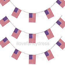 USA BUNTING 33FT LARGE AMERICAN FLAG DECORATION 20 FLAGS 10 METRE 4TH JULY PARTY in Home, Furniture & DIY, Celebrations & Occasions, Party Supplies, Banners, Buntings & Garlands | eBay
