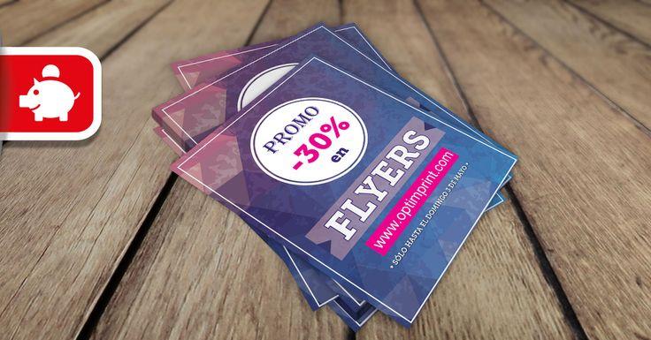 Super Promo 30% de descuento en Flyers. Por ejemplo, llévate 5.000 A6 con impresión a las dos caras por 28,85€+iva. Precio final con envío incluido. ¡Sólo hasta el domingo 3 de mayo optimistas!  www.optimprint.com  #imprentaonline #flyers #volantes #diseñografico