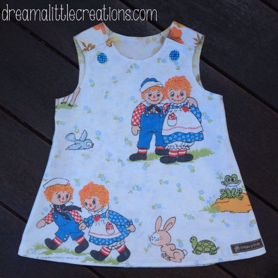 Raggedy Ann and Andy vintage retro handmade by dreamalittleshoppe