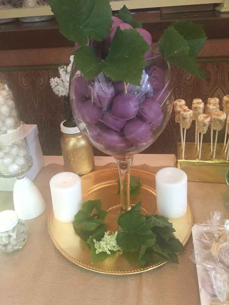Grape wine theme cake pop