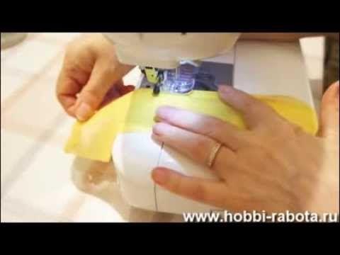 Обработка шифона московским швом и швом зиг заг - YouTube