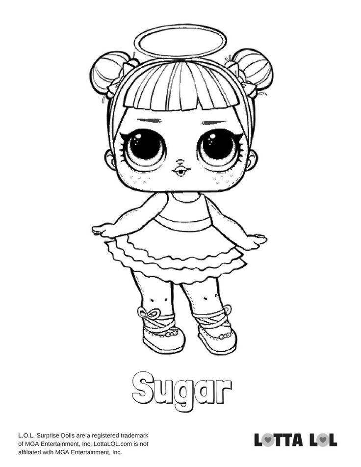 Sugar Coloring Page Lotta LOL Coloring pages for boys