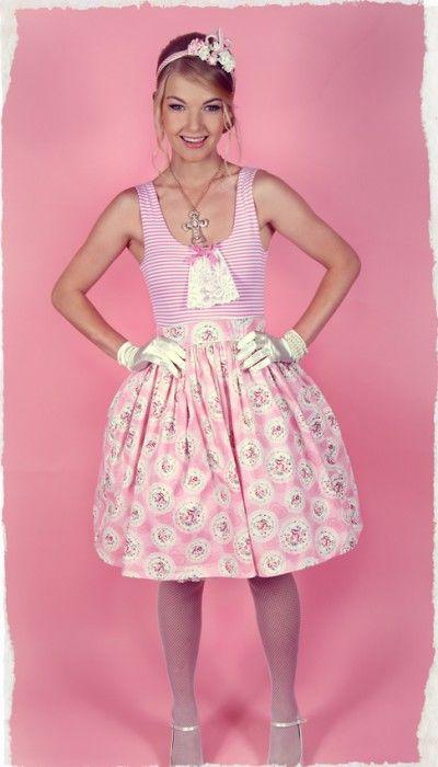 Antoinette Jersey Dress (Pink)