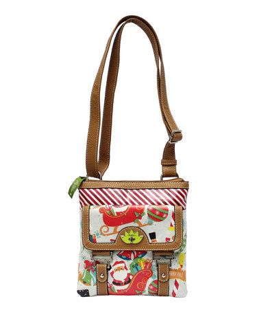 Love this White Christmas Party Fold-Over Crossbody Bag by Lily ...