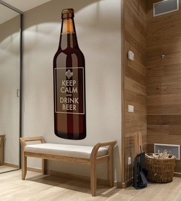Streetwallz - Keep Calm With a Beer Bottle Wall Decal, $65.00 (http://www.streetwallz.com/keep-calm-with-a-beer-bottle-wall-decal/)