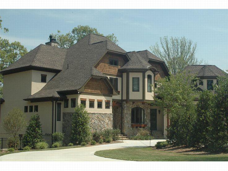 Rear View House Plans, European House Designs U0026 Tudor Home Plans