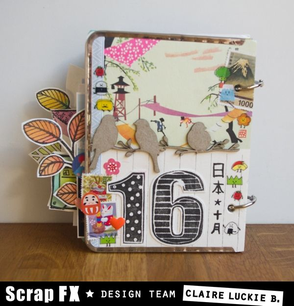 Book features Scrap FX chipboard, transparencies, stencils and stamps. To see all pages please go to the Scrap FX blog: http://www.scrapfx.com.au/blog/?p=21625