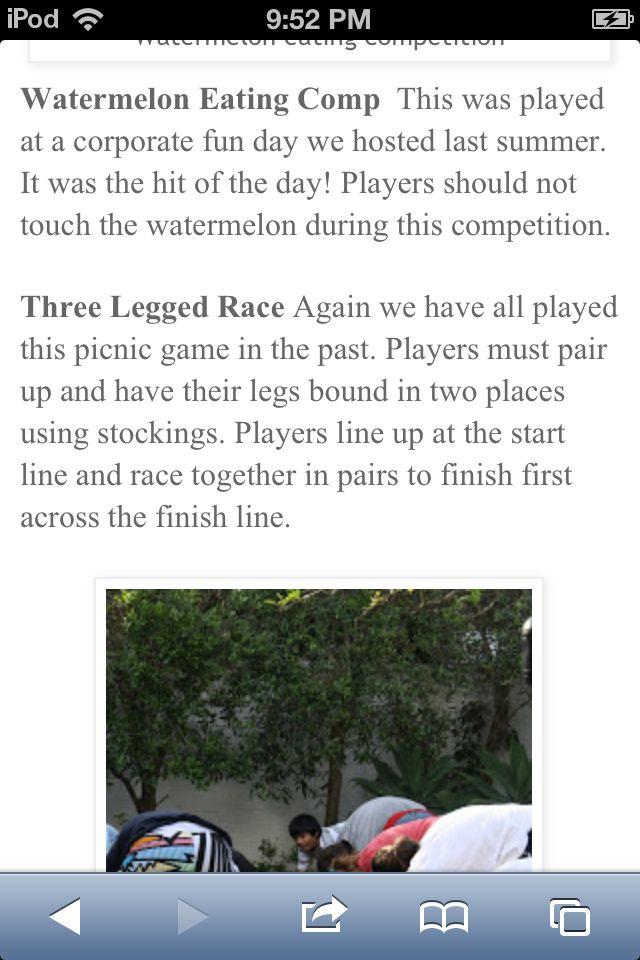 3 legged race
