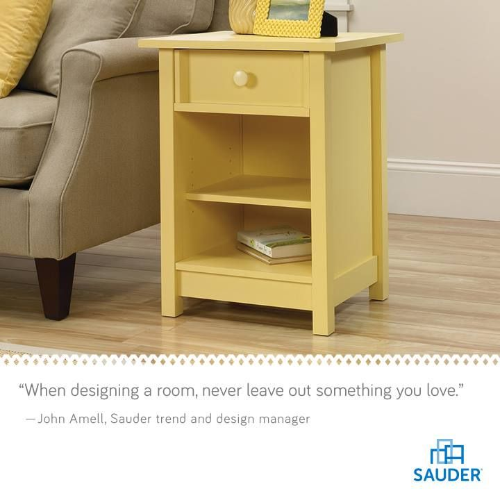 Sauder Original Cottage Side Table, Melon Yellow Finish Contemporary Side  Tables And Accent Tables