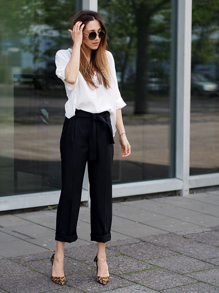 #business #office #minimal #monochrome #highwaist #paperbagpants #sandro #silk #oversized #cos #heels #pumps #leopard #aquazzura #style #spring #streetstyle #berlin #helloshopping #classy #effortless #sophisticated #vogue #madame #harpersbazaar