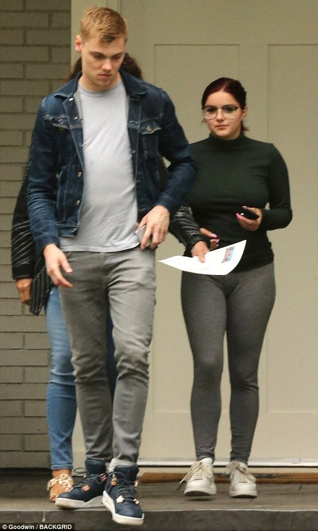 Finding their nest: Ariel Winter and boyfriend were spotted househunting in Sherman Oaks, California on Thursday