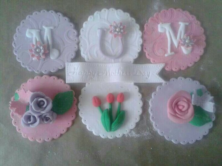 Mothers Day cupcake toppers 2014