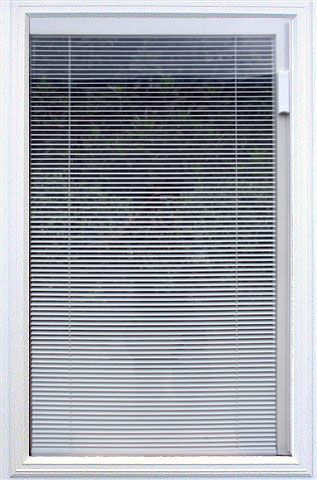 Insulated internal mini blind units for entry door systems for Insulated entry door