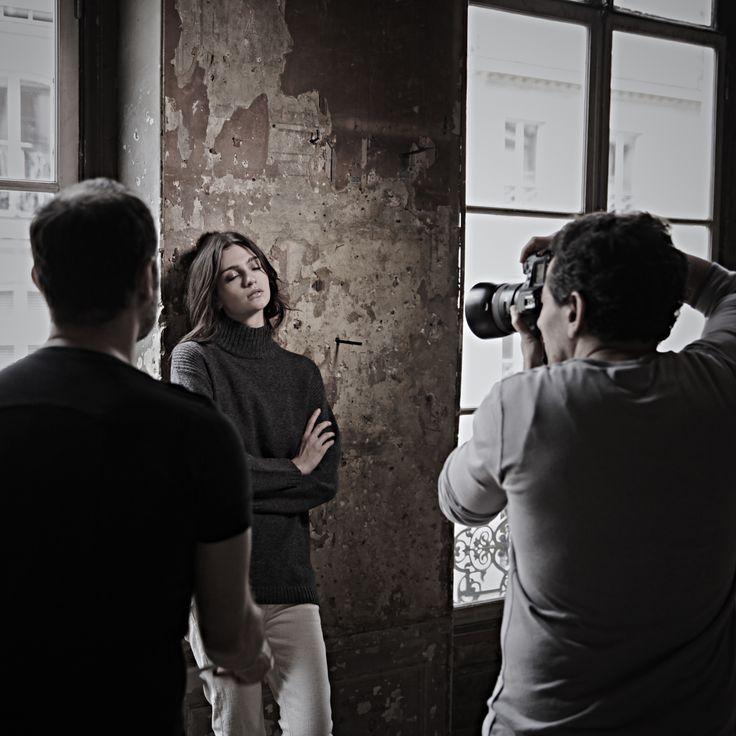 #fine #backstage #shooting #model