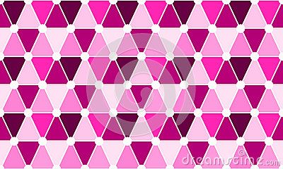 Pink triangles and circles geometric pattern. Seamless tile. (C) Celia Ascenso 2017