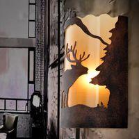 İskandinav Amerika ülkesi pastoral antika duvar lambası koridor koridor yaratıcı dekoratif retro nostalji çubuğu başucu duvar lambaları