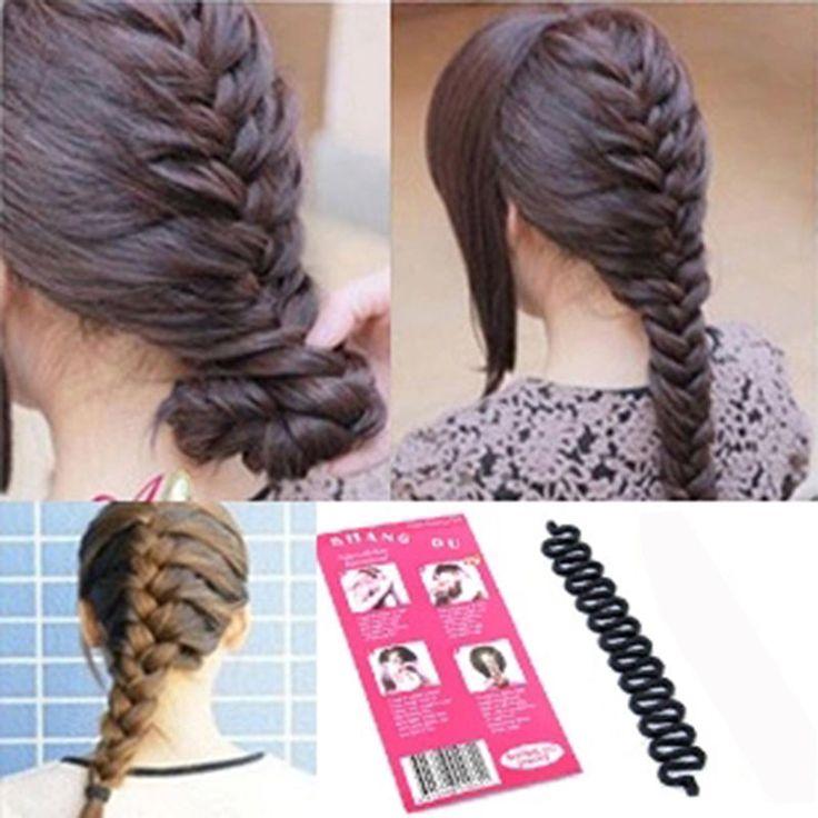 New Women Fashion Hair Styling Clip Stick Bun Maker Braid Tool Hair Accessories