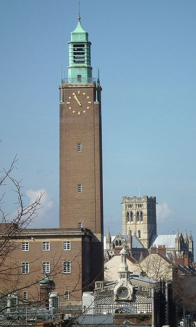 Norwich City Hall Clock Tower, Norwich, England