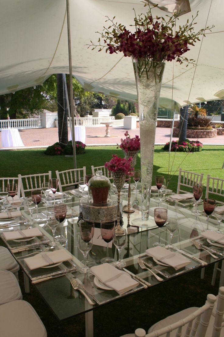 Summer Garden Wedding Glass Table