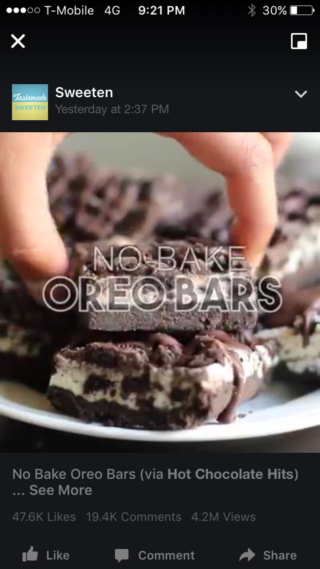 No bake Oreo bars
