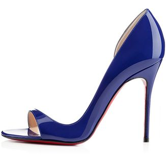 Christian Louboutin ~ Patent Leather High Heel Stilettos, Royal Blue