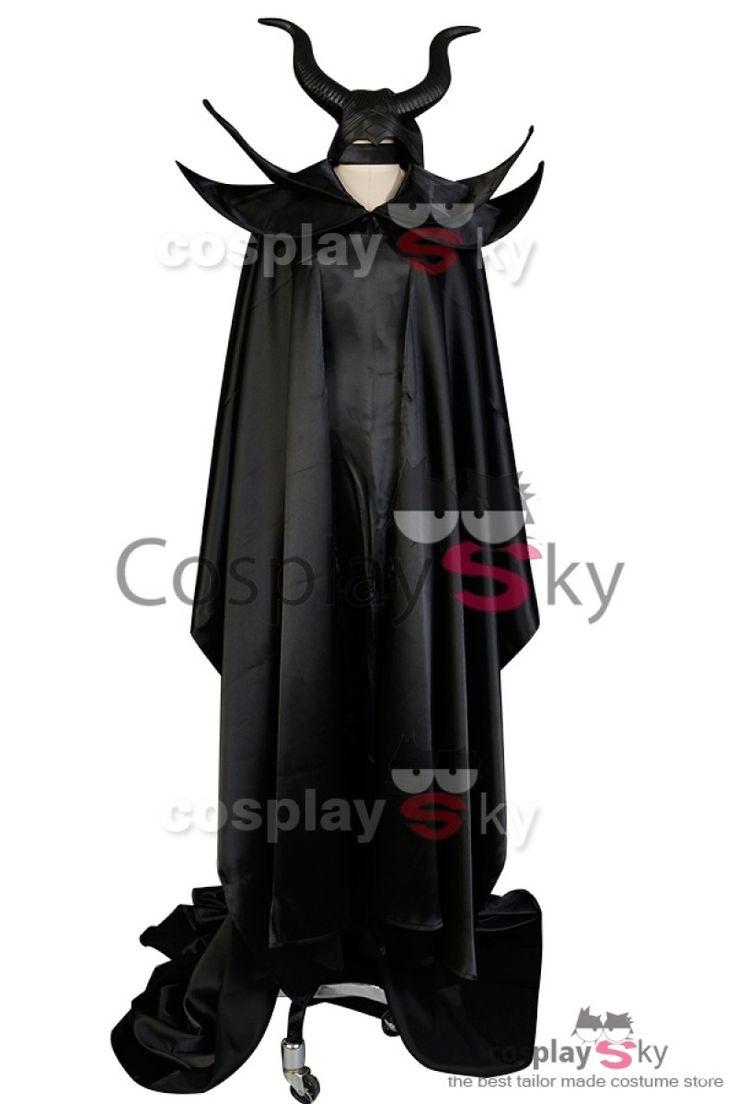 Disney MALEFICENT Movie Angelina Jolie Cosplay Dress Costume Full Set-3