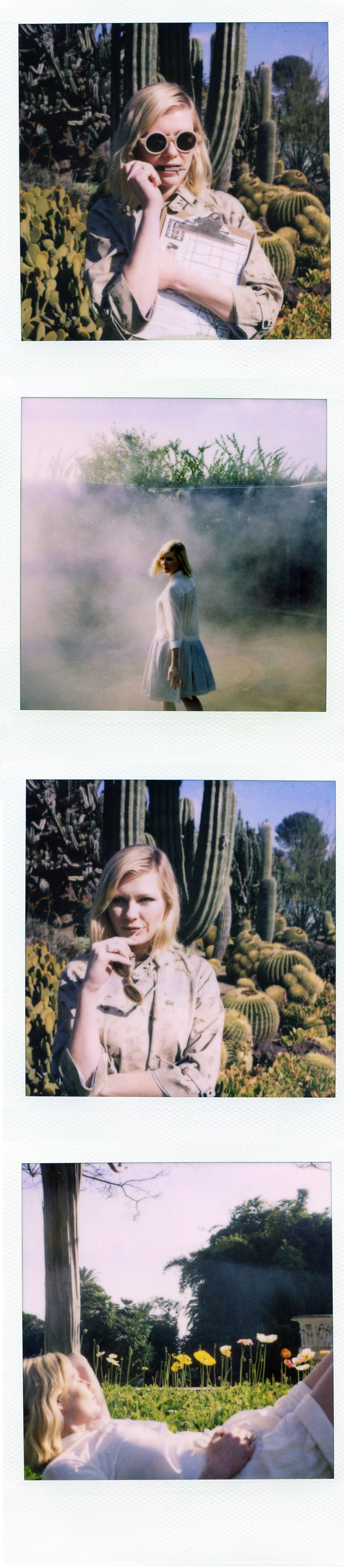 Band of Outsiders + Kirsten Dunst + Polaroid