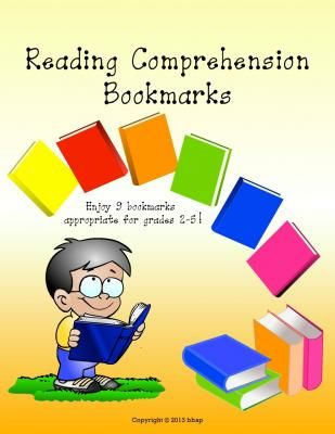 Reading Comprehension Bookmarks from Trendy Teachers' Lounge on TeachersNotebook.com -  (7 pages)  - Reading Comprehension Bookmarks.  Enjoy using these 9 different reading comprehension bookmarks!