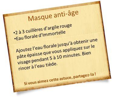 masque anti-âge à l'eau florale d'immortelle